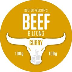 Doctor Proctor's® Seriously Tasty Curry Beef Biltong x 100g