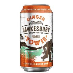 Hawkesbury Brewing Co Yowie Alcoholic Ginger Beer Cans 375ml - Pack of 24