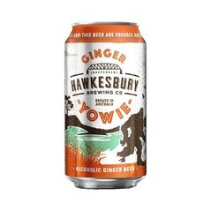 Hawkesbury Brewing Co Yowie Alcoholic Ginger Beer Cans 500ml - Pack of 12