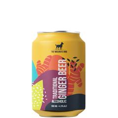 The Welder's Dog Farmhouse Ginger Beer Cans 355mL - Pack of 16