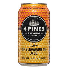 4 Pines Indian Summer Ale Cans 375ml - Pack Of 24