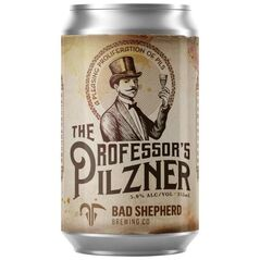 Bad Shepherd Brewing Co The Professor's Pilsner Cans 355ml - Pack Of 24
