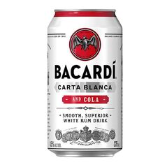 Bacardi Rum & Cola Premix  Cans 375ml - Pack of 24