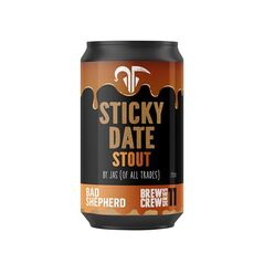 Bad Shepherd Brewing Co Sticky Date Stout Cans 355ml - Pack of 24