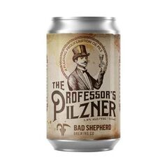 Bad Shepherd Brewing Co The Professor's Pilzner Cans 355ml - Pack of 24