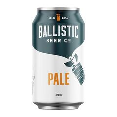 Ballistic Beer Co Pale Ale Cans 375ml - Pack of 24