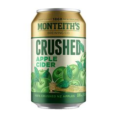 Monteith's Crushed Apple Cider Cans 330ml - Pack of 30